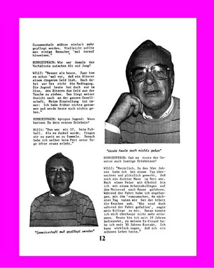 Interview schwule Szene 1960er-Jahre, S. 2